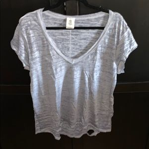 Distressed Free People V Neck